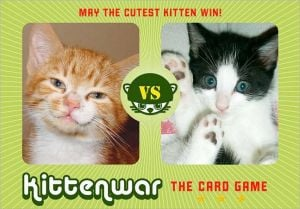 Kittenwar Card Game: May the Cutest Kitten Win! book written by Fraser Lewry