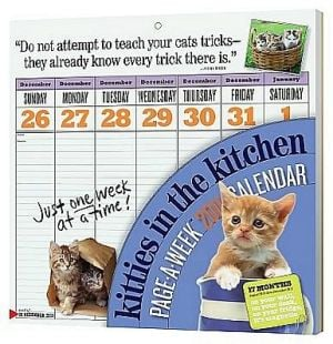 2011 The Kitty in the Kitchen Page-A-Week Wall Calendar book written by Workman Publishing