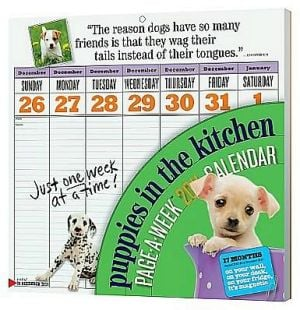 2011 The Puppy in the Kitchen Page-A-Week Wall Calendar book written by Workman Publishing