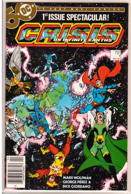 Crisis On Infinite Earths Comic Book Back Issues by A1 Comix