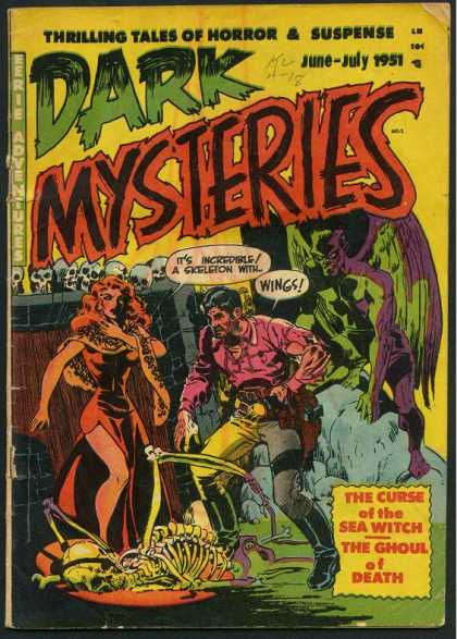 Dark Mysteries Comic Book Back Issues by A1 Comix