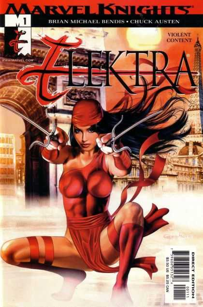 Elektra Comic Book Back Issues by A1 Comix