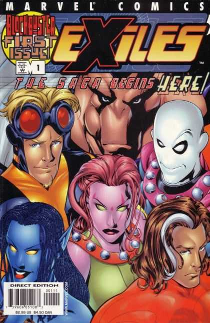 Exiles Comic Book Back Issues by A1 Comix