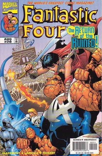 Fantastic Four Volume 3 comic book back issue comicbook back copy
