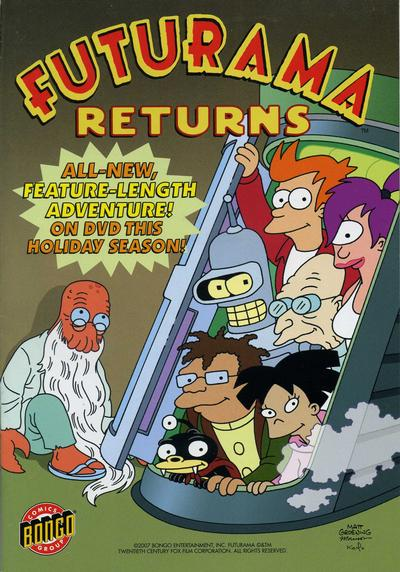 Futurama Returns Comic Book Back Issues by A1 Comix