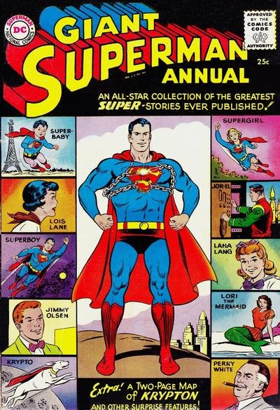 Giant Superman Annual Comic Book Back Issues of Superheroes by A1Comix
