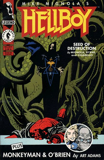 Hellboy: Seed of Destruction comic book back issue comicbook back copy