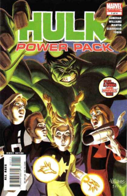 Hulk and Power Pack Comic Book Back Issues by A1 Comix