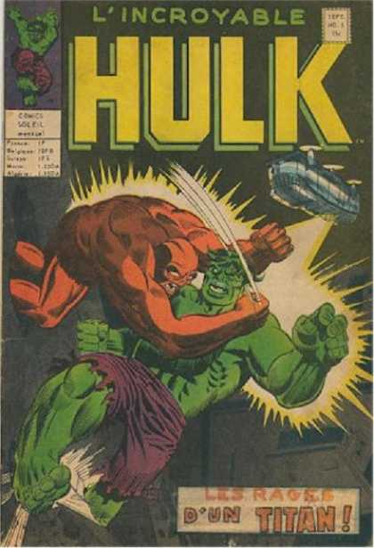 L'Incroyable Hulk Comic Book Back Issues by A1 Comix