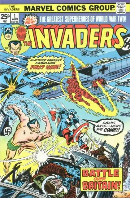 Invaders Comic Book Back Issues by A1 Comix