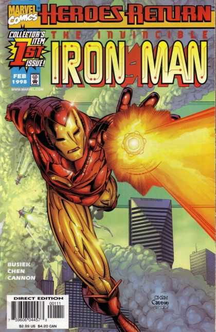 Iron Man 1998 Comic Book Back Issues by A1 Comix