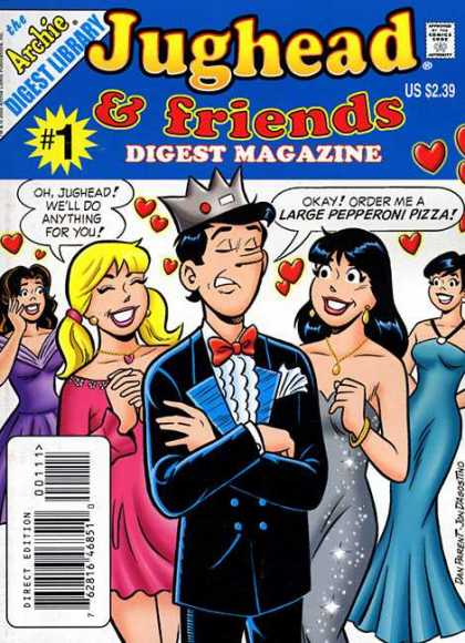 Jughead and Friends Digest Comic Book Back Issues by A1 Comix