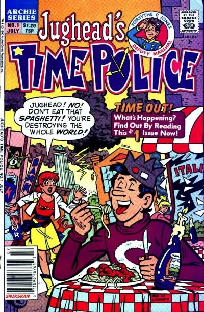 Jughead's Time Police Comic Book Back Issues by A1 Comix