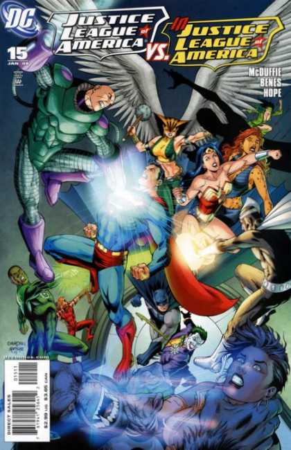 Justice League of America (2006) comic book back issue comicbook back copy