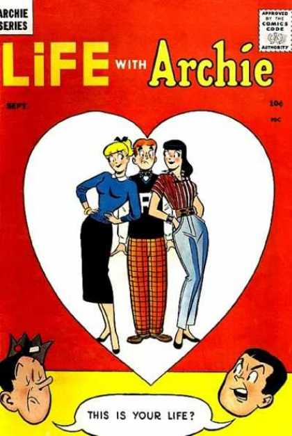 Life With Archie Comic Book Back Issues by A1 Comix