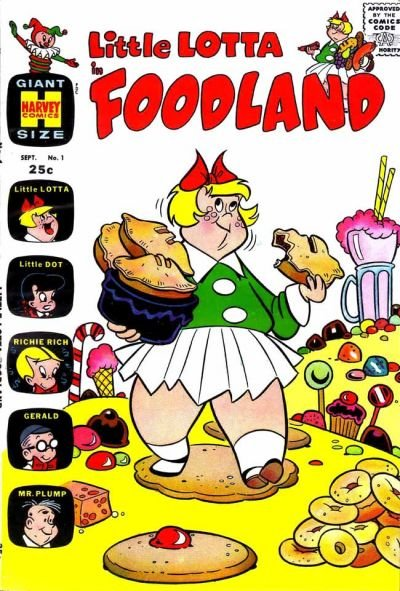 Little Lotta in Foodland Comic Book Back Issues by A1 Comix