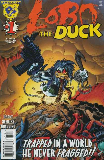 Lobo the Duck Comic Book Back Issues by A1 Comix