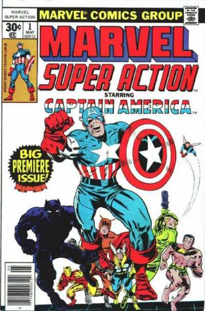 Marvel Super Action Comic Book Back Issues by A1 Comix