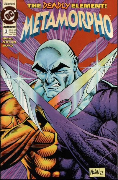 Metamorpho (1993) comic book back issue comicbook back copy