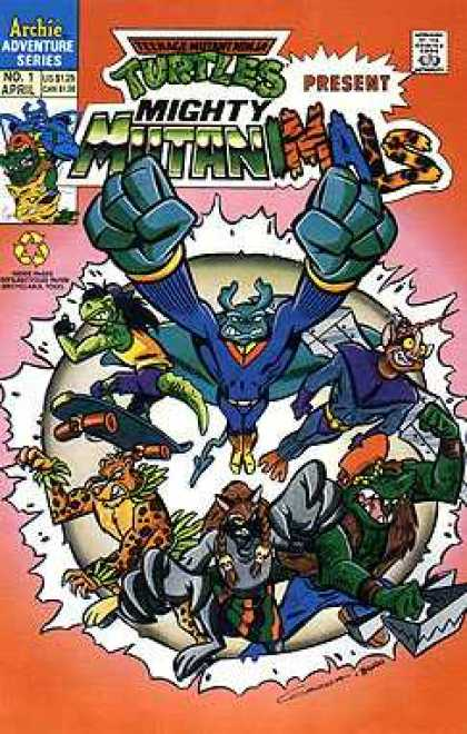 Mighty Mutanimals Comic Book Back Issues by A1 Comix