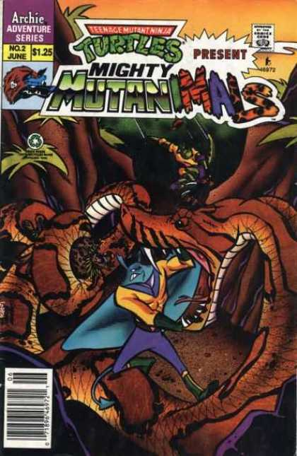 Mighty Mutanimals comic book back issue comicbook back copy