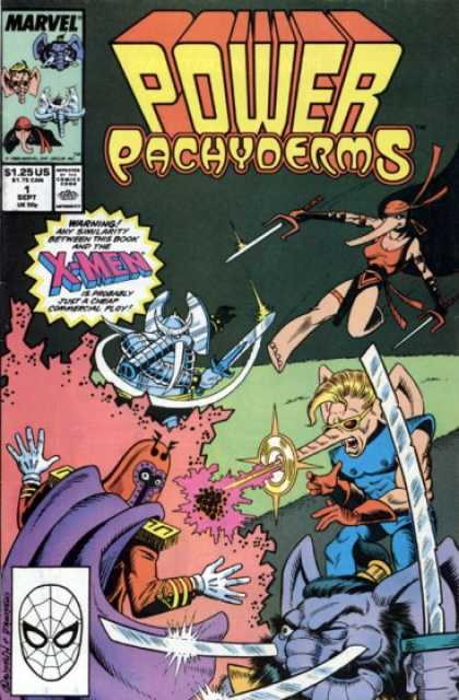 Power Pachyderms Comic Book Back Issues by A1 Comix