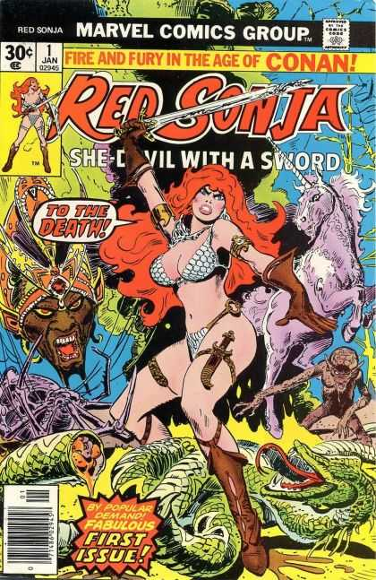 Red Sonja Comic Book Back Issues by A1 Comix