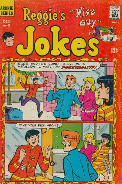 Reggie's Wise Guy Jokes A1 Comix Comic Book Database