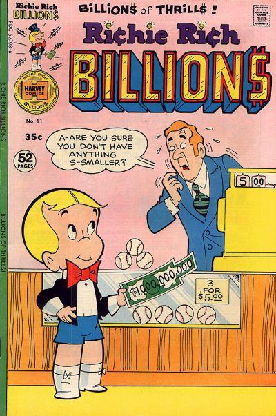 Richie Rich Billions A1 Comix Comic Book Database