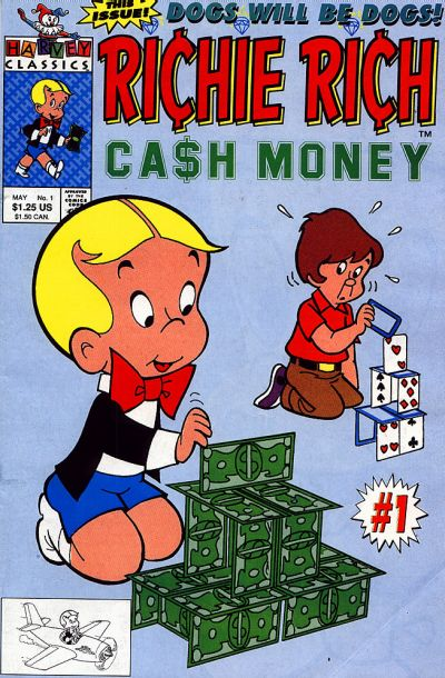 Richie Rich Cash Money Comic Book Back Issues by A1 Comix