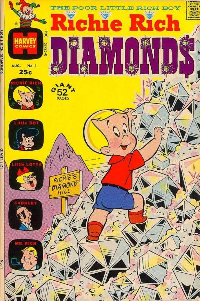 Richie Rich Diamonds Comic Book Back Issues by A1 Comix