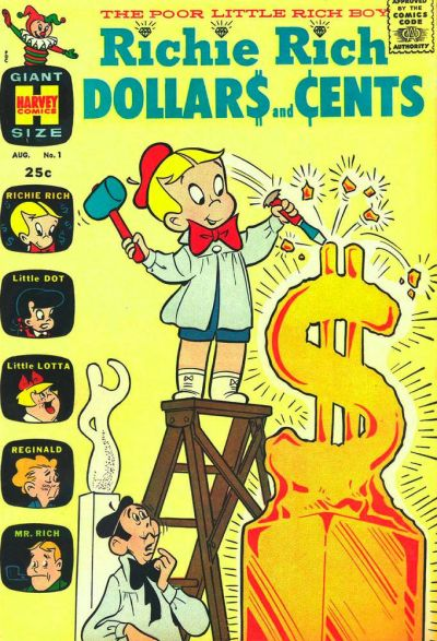 Richie Rich Dollars and Cents Comic Book Back Issues by A1 Comix