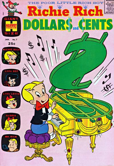 Richie Rich Dollars and Cents A1 Comix Comic Book Database