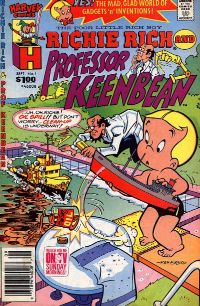 Richie Rich & Professor Keenbean Comic Book Back Issues by A1 Comix