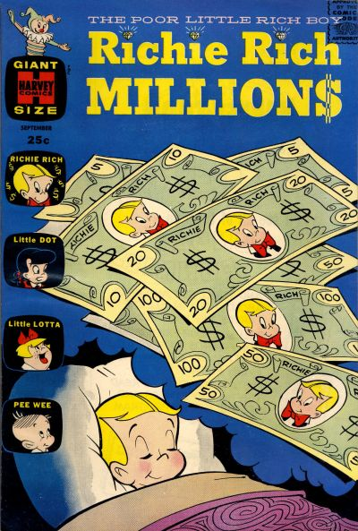 Richie Rich Millions Comic Book Back Issues by A1 Comix