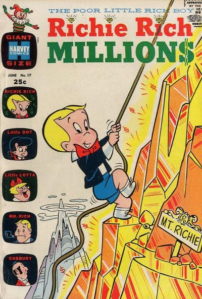 Richie Rich Millions comic book back issue comicbook back copy