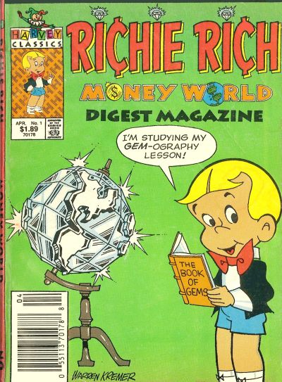 Richie Rich Money World Digest Comic Book Back Issues by A1 Comix