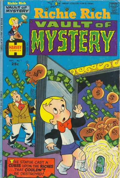 Richie Rich Vaults of Mystery Comic Book Back Issues by A1 Comix