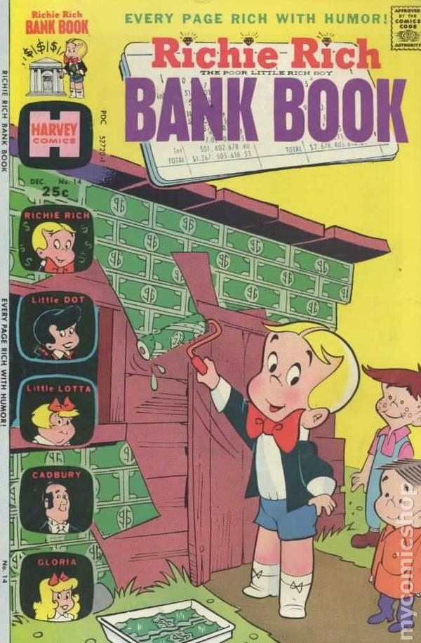 Richie Rich Bank Books A1 Comix Comic Book Database