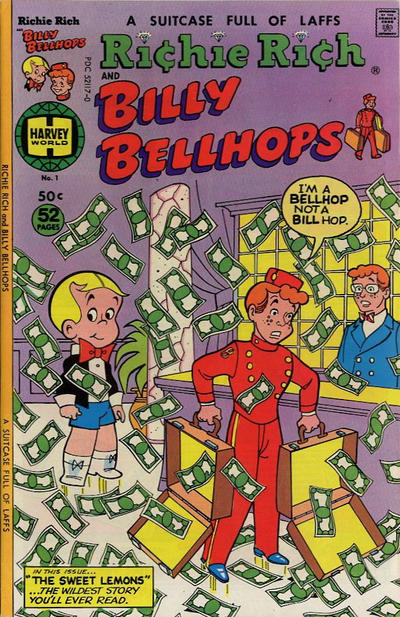 Richie Rich & Billy Bellhops Comic Book Back Issues by A1 Comix