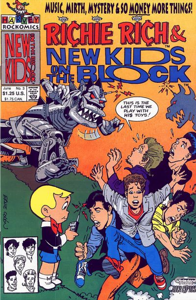 Richie Rich & The New Kids on the Block A1 Comix Comic Book Database