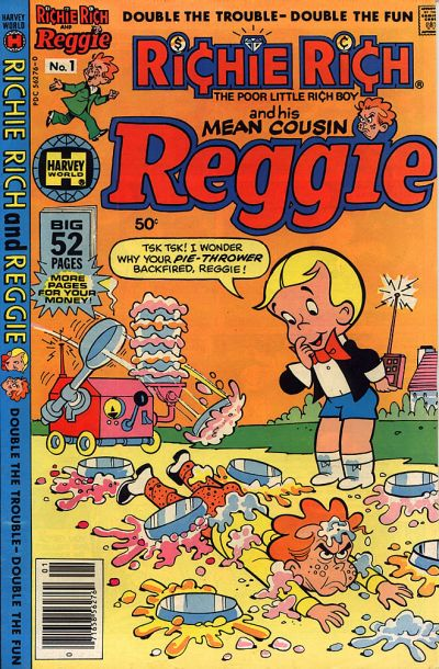 Richie Rich & His Mean Cousin Reggie Comic Book Back Issues by A1 Comix