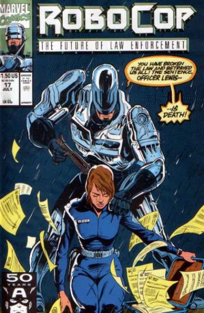 Robocop comic book back issue comicbook back copy