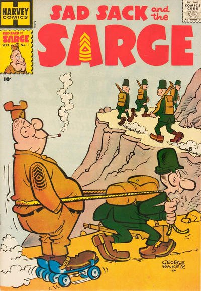 Sad Sack & The Sarge Comic Book Back Issues by A1 Comix