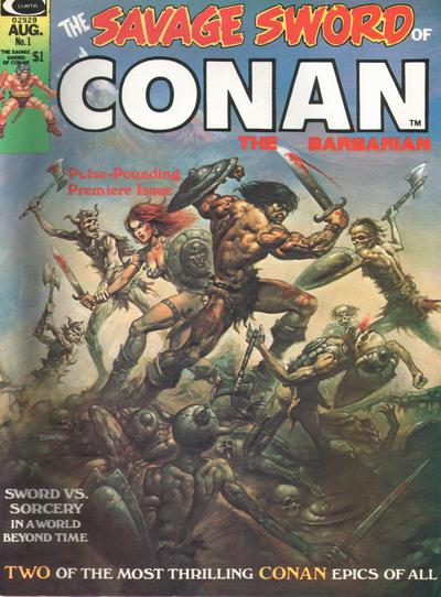 Savage Sword of Conan Comic Book Back Issues of Superheroes by A1Comix