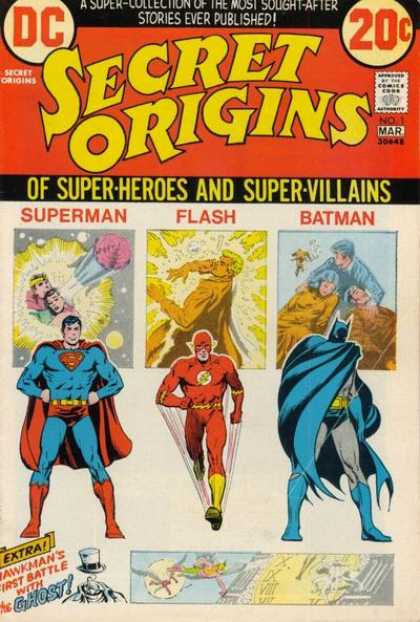 Secret Origins Comic Book Back Issues of Superheroes by A1Comix