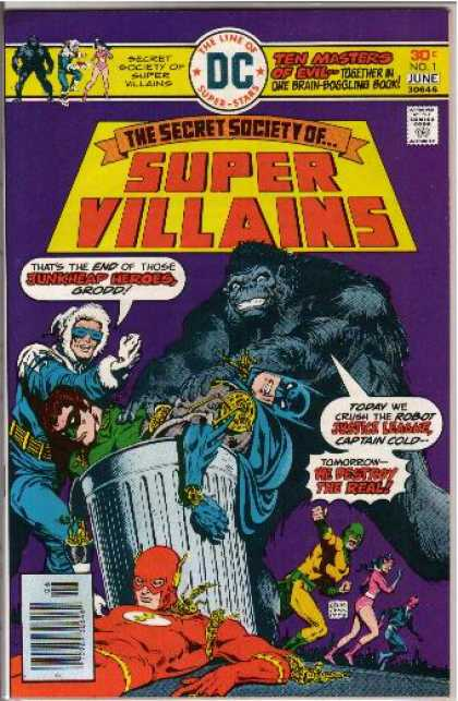 Secret Society of Super Villains Comic Book Back Issues of Superheroes by A1Comix