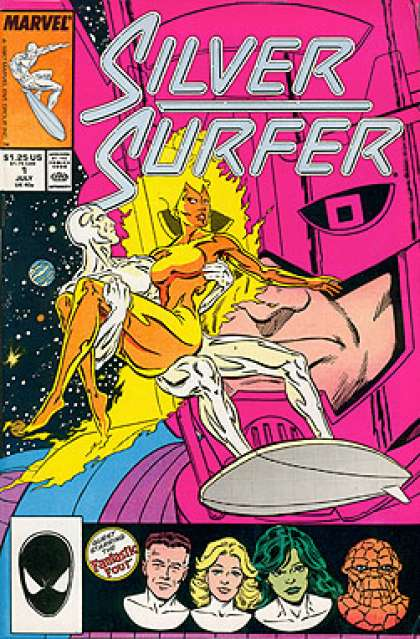 Silver Surfer 1987 Comic Book Back Issues by A1 Comix