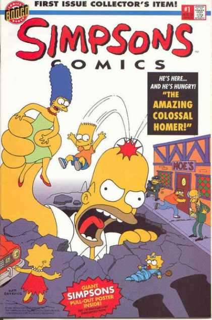 Simpsons Comics Comic Book Back Issues by A1 Comix