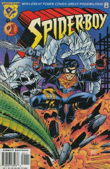 Spider-Boy Comic Book Back Issues by A1 Comix
